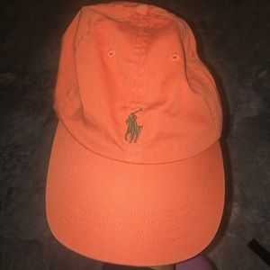 Polo Ralph Lauren canvas leather strap hat